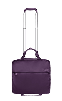 "Lipault Plume Business Rolling Tote 2 roues 15"" Violet"