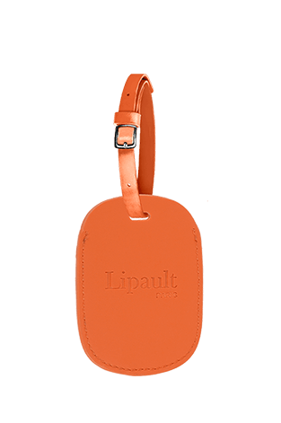 Lipault Lipault Ta Luggage Tag  Bright Orange