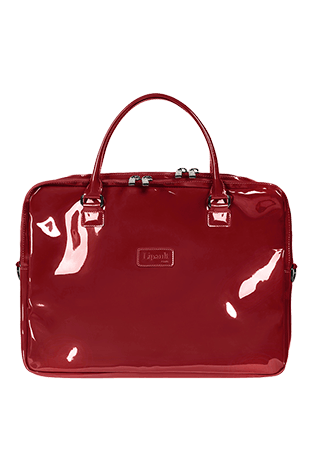 Lipault Plume Vinyle Laptop Bag 15.6'' Ruby