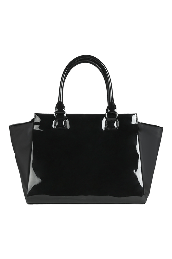 Plume Vinyle Satchel Bag S Black | 4