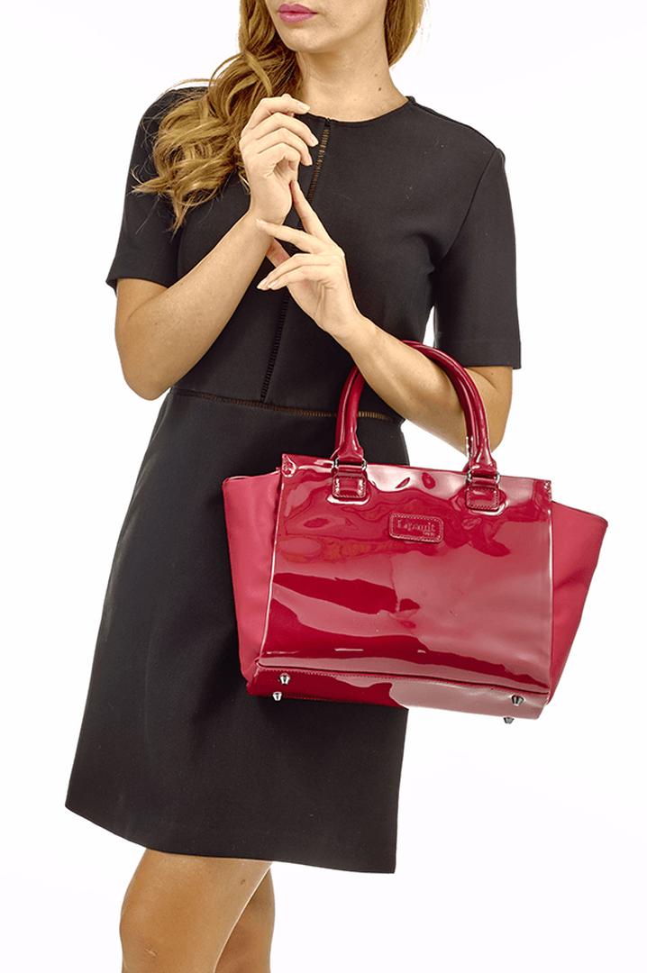 Plume Vinyle Satchel Bag S Ruby | 3