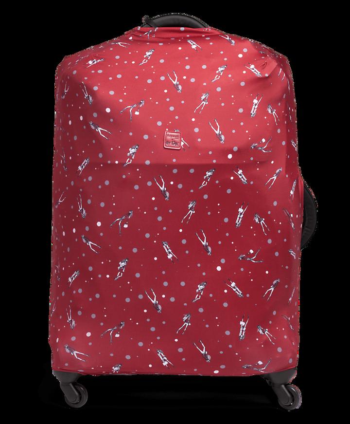 Izak Zenou Collab Luggage Cover M Pose/Garnet Red | 1