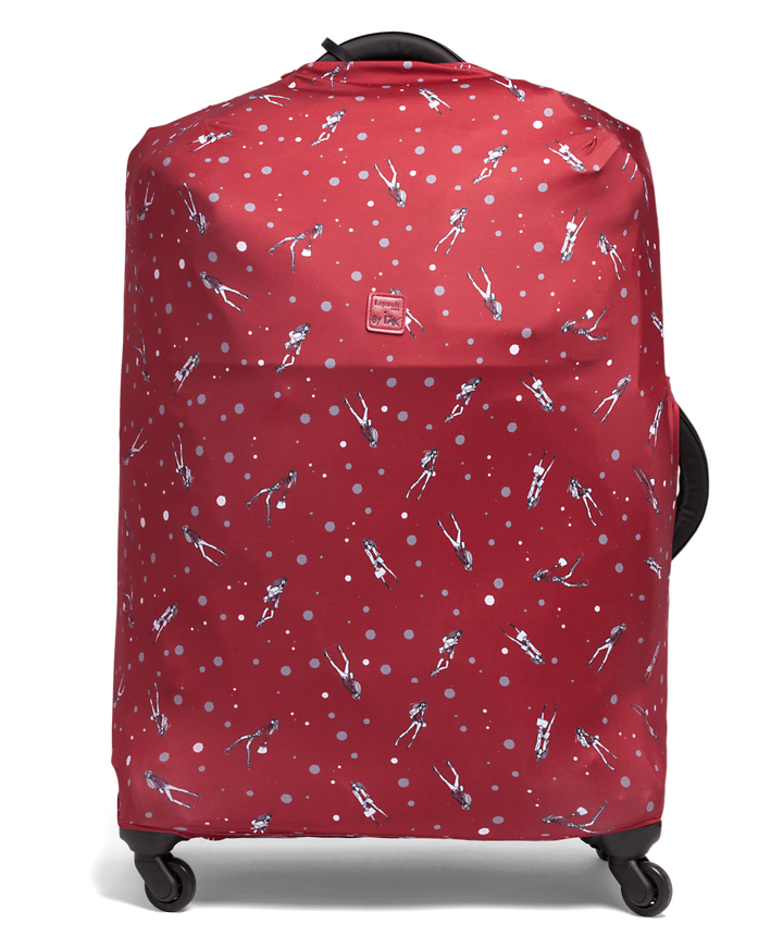 Izak Zenou Collab Luggage Cover M Pose/Garnet Red | 1