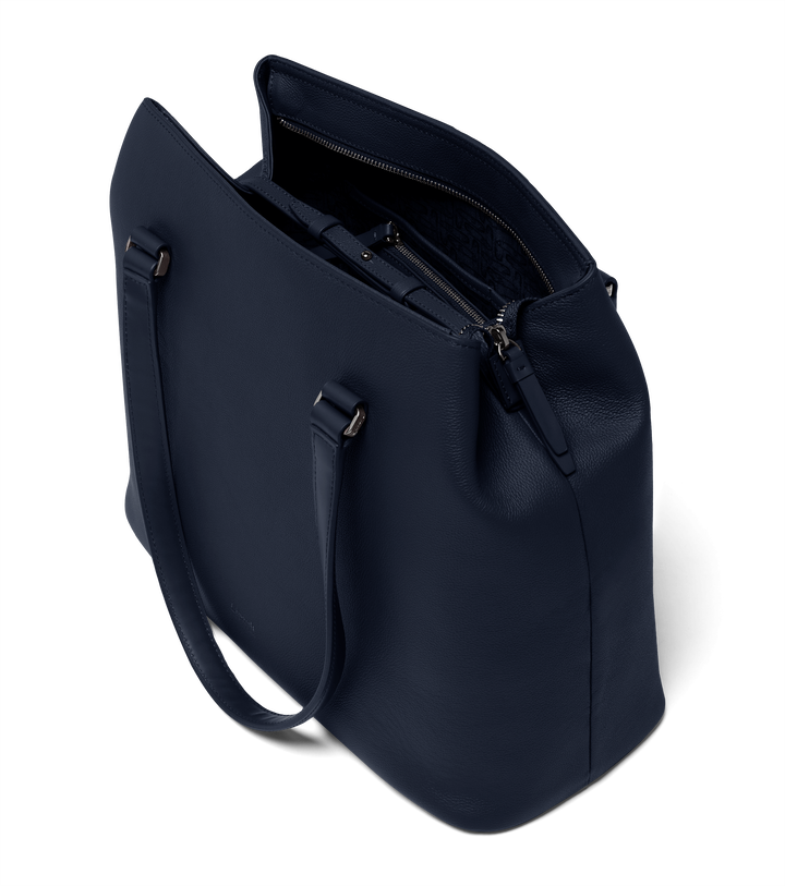 Plume Elegance Sac shopping L Bleu Marine | 1