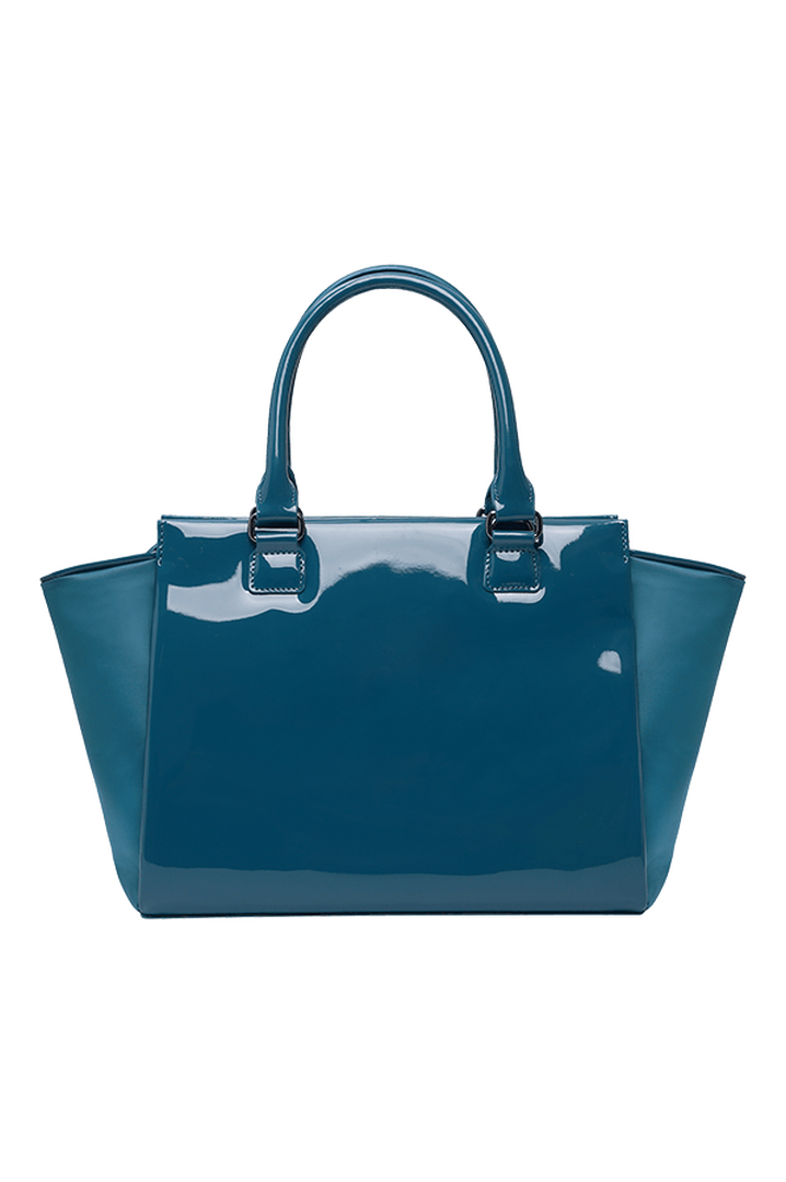 Plume Vinyle Satchel Bag S Duck Blue | 5