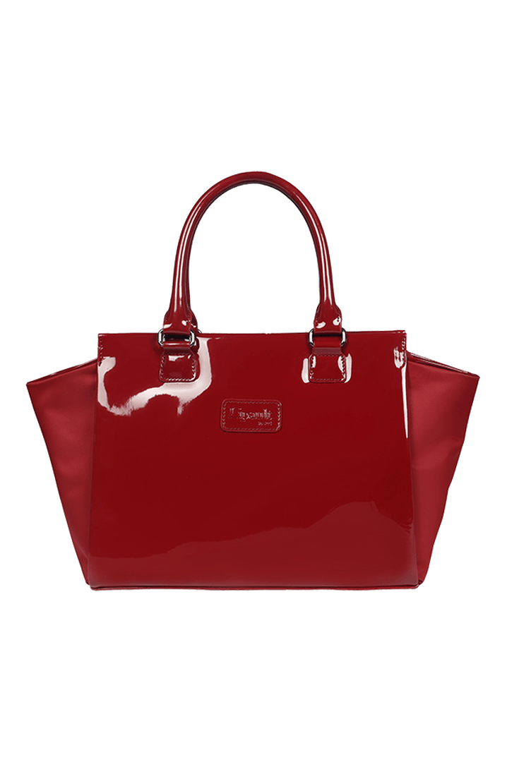 Plume Vinyle Satchel Bag S Ruby | 1