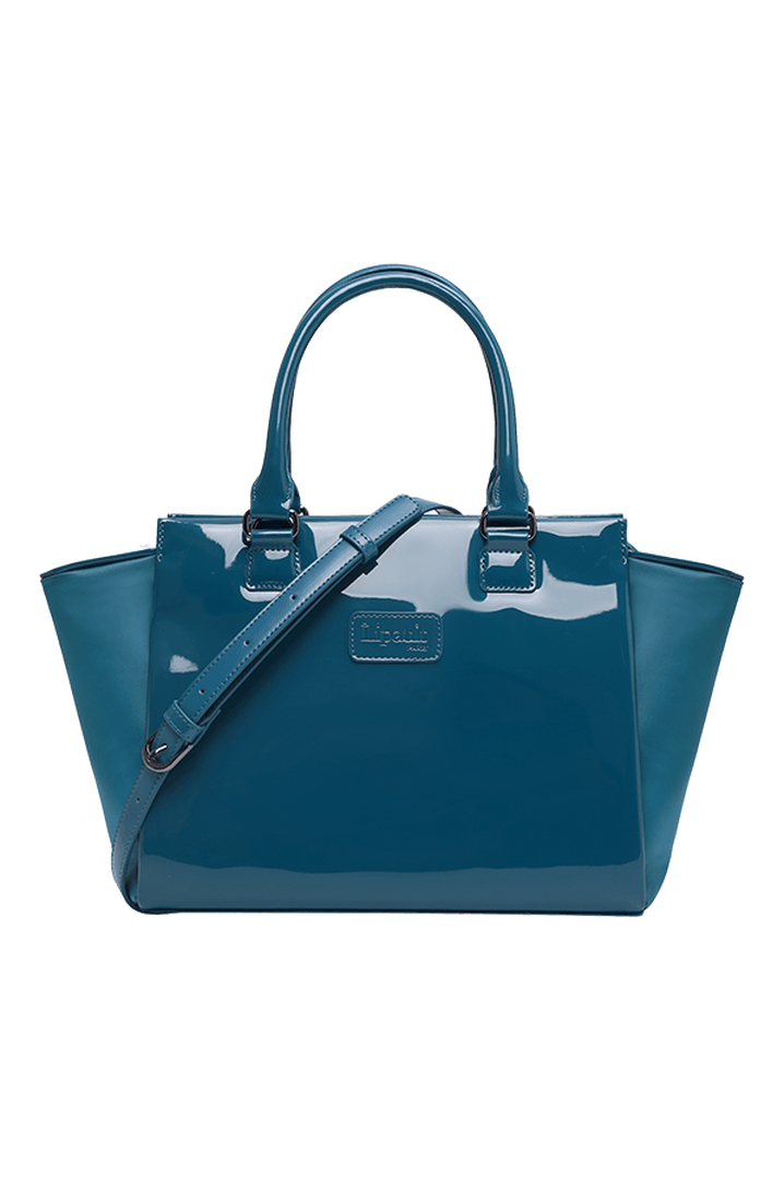 Plume Vinyle Satchel Bag S Duck Blue | 1