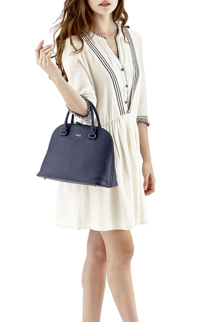 Plume Elegance Handbag M Navy   3