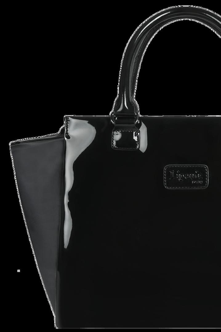 Plume Vinyle Satchel Bag M Black   4