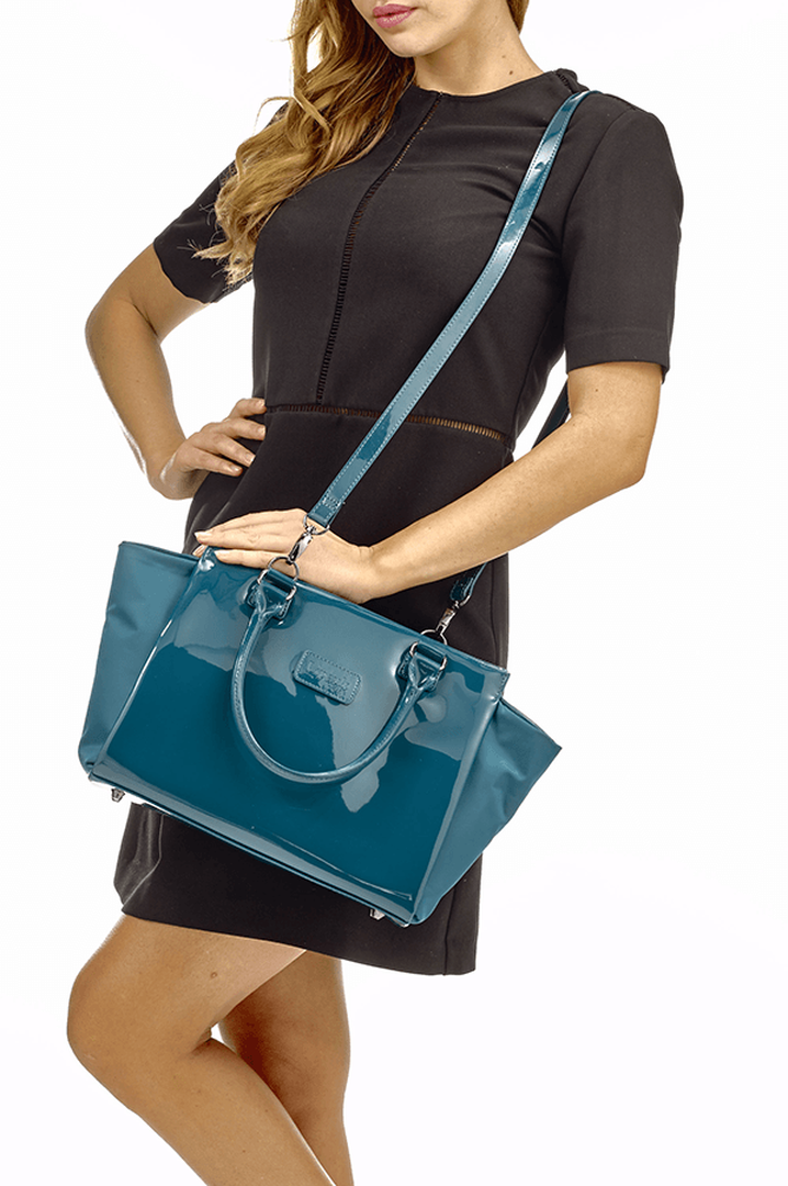 Plume Vinyle Satchel Bag S Duck Blue | 4