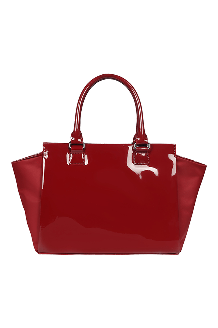 Plume Vinyle Satchel Bag S Ruby | 5