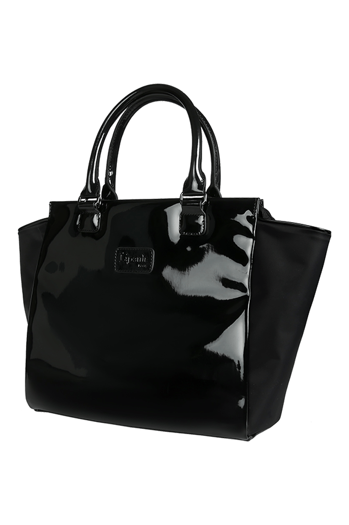 Plume Vinyle Satchel Bag M Black   6