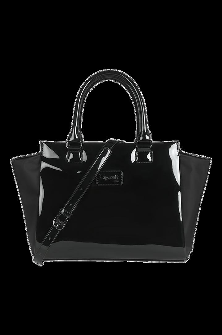 Plume Vinyle Satchel Bag S Black | 1