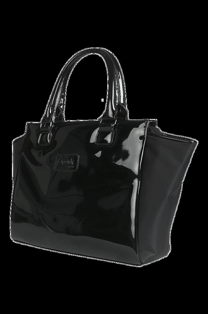 Plume Vinyle Satchel Bag S Black | 5