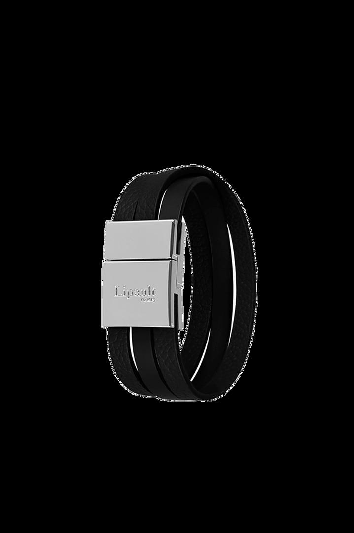 Plume Elegance Bracelet Noir | 1