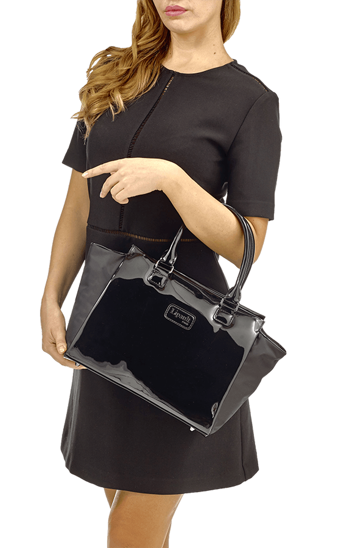 Plume Vinyle Satchel Bag S Black | 3