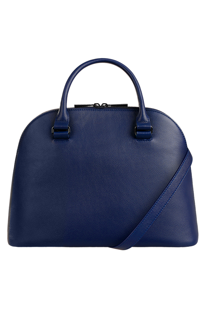 Plume Elegance Handbag M Navy   4