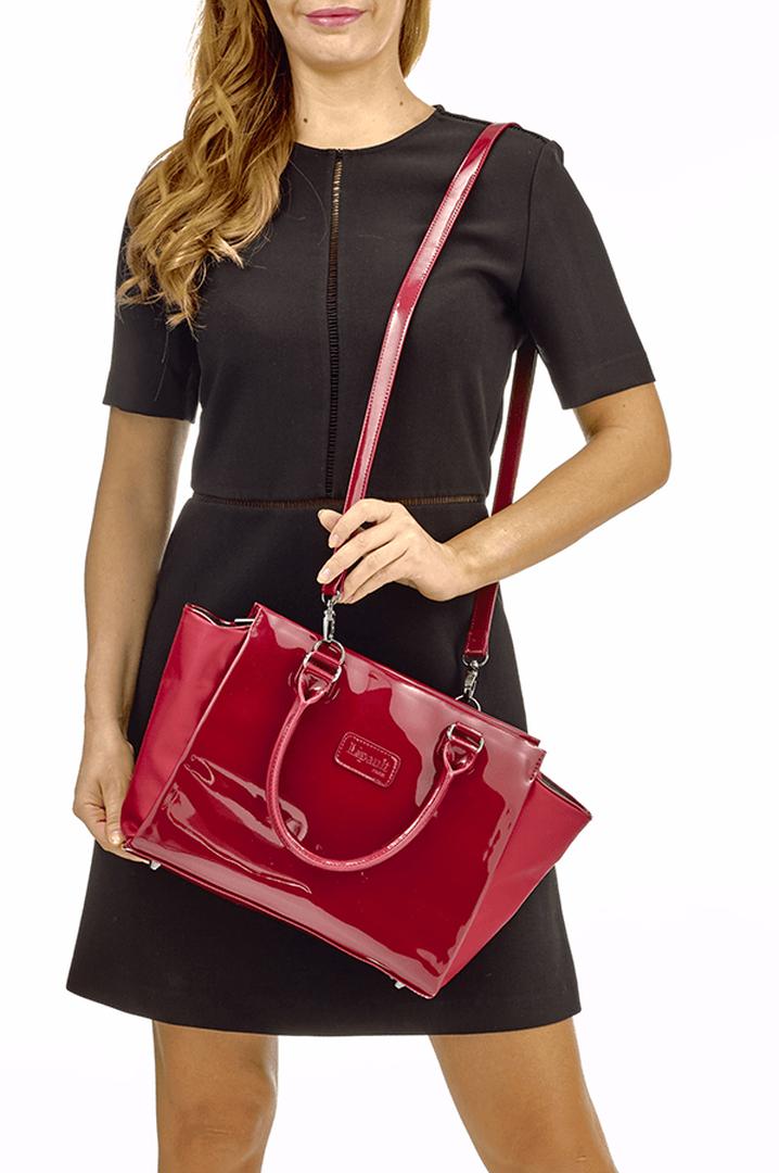 Plume Vinyle Satchel Bag S Ruby | 4