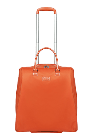 Lipault Lady Plume Rolling Tote 15' Orange